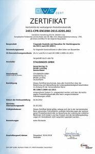 WPK Zertifikat DE EN 1090