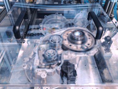 Montagelinie für E-Getriebe
