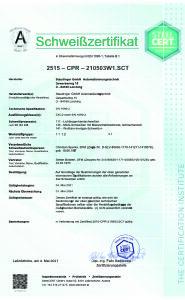 Zertifikat-Schweissen EN 1090-2